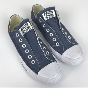 Converse All Star Canvas Laceless Navy Sneakers